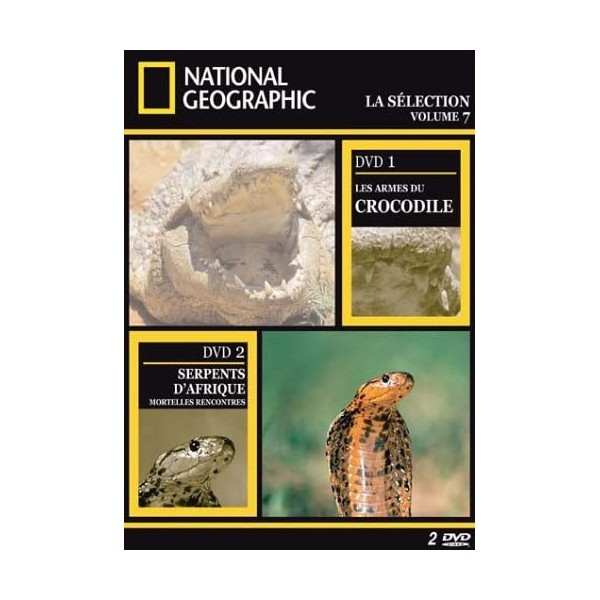 National Geographic - 2 DVD - Les armes du crocodile / Serpents d'Afrique mortelles rencontres